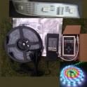 Magik Tira LED 5050 RGB 150LED impermeable con controlador y mando + Fuente de alimentación 12v