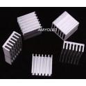 5 x Disipadores De Calor De Aluminio 14 X 14 X 6 mm