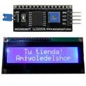 Display LCD 1602 retroilumnido AZUL con módulo IIC/I2C compatible arduino