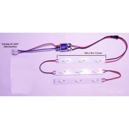 kit montaje de pantalla de LED para acuario 27W, con led de 3W (PCB 3 X 77 X 20 X 12mm)