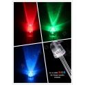 Kit 10 Diodos LED RGB de 5mm anodo comun, Arduino,Electronica