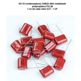KIT 10 CBB22 de 400v metalizado polipropileno FILLM condensador