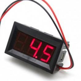 Voltímetro Digital LED Rojo  Medidor Indicador Voltaje Batería DC 3,2V - 30V