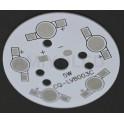 PCB de aluminio para 5 LEDs 1W-3W