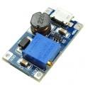 MT3608 DC-DC Paso Arriba ajustable 2  - 24 v a 5 v 9 v 12 v 28 v hasta 2A con micro USB