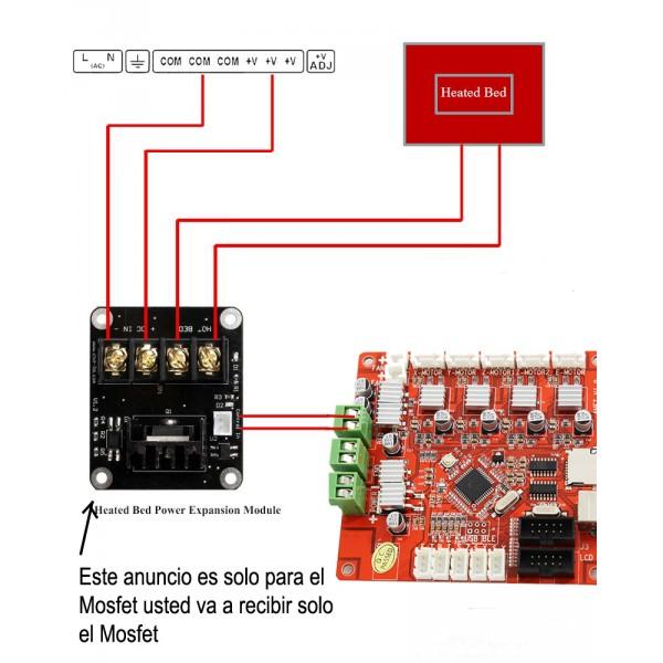 mks mosfet proteccion para la placa base de impresora 3d