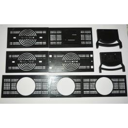 Kit Tapas laterales con pies + rejillas, posibilidad seleccionar también 1m de perfil de aluminio + 2 piezas 3d vinilo Regalo