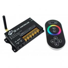 RF CONTROLADOR RGB 2.4G - 3 X 8A + MANDO TÁCTIL (MODELO RF201)