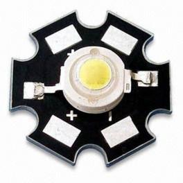 LEDs de alta potencia de 3W con PCB estrella