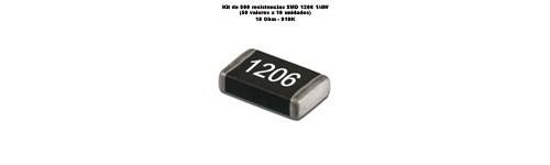 Kit resistencias SMD 1206 (500 unidades)
