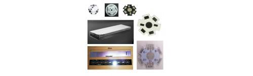 Disipadores y PCB impresos de LED de alta potencia