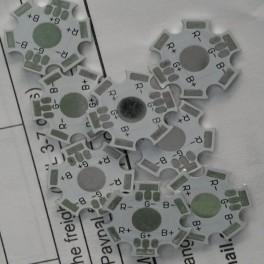 PCB impreso para LEDs RGB de 3W