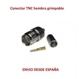 Conector TNC hembra Grimpable para cable H155 / RF240/TRI-LAN 240