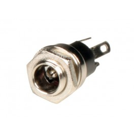 Conector Hembra Panel, Power Jack DC 5,5 x 2,1 mm - Electronica, arduino.