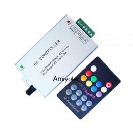 Controlador RGB Audio rítmico RF con mando a distancia.