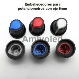 Embellecedores para potenciómetros rotatorios diferentes colores