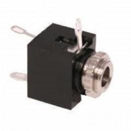 Conector Jack hembra de chasis 3,5 mm con carcasa de plástico