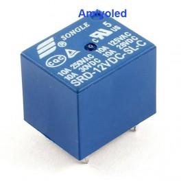 Relé 12v tipo PCB SDR 12VDC montaje superficie un contacto