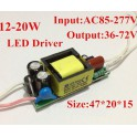 Driver 10 - 15 x 1W LED(Transformador AC-DC)