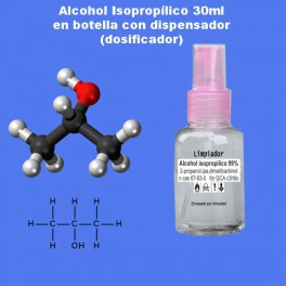 30ml Alcohol isopropilico/IPA Isopropyl Alcohol/ 2-Propanol, Isopropilico 99%