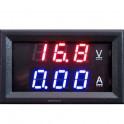 Medidor Voltímetro Amperímetro Digital LED DC 0-100V Empotrable, electrónica proyectos.