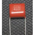 CBB22 CBB 2.2uF 225J 400v metalizado polipropileno FILLM condensador P20mm