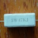 1 x Resistencia 47K 5W. 5% cemento (cerámica)