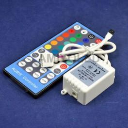 Controlador RGBW con control remoto IR de 44 Teclas de Amiyoled