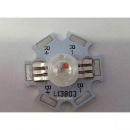 LED de alta potencia de 3W RGB con disipador estrella soldado