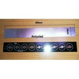 46cm PCB impreso de aluminio, circuito de impreso para 9 LEDs 1W-3W
