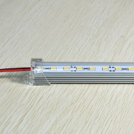 25cm Luminaria Tira rigida con led 5630 en perfil de aluminio, funciona con 12V