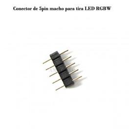 Conector de 5pin macho para tira LED RGBW