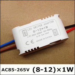 Driver 8 - 12 x 1W LED(Transformador AC-DC)