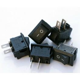 Mini Interruptor basculante 2 Pies rectángulo Preto