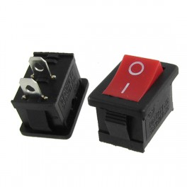 Interruptor basculante 2 Polos rectángulo Prieto