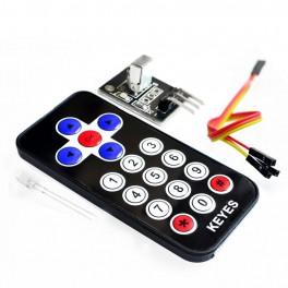 Kit Módulo infrarrojo IR + Mando distancia para el control remoto de Arduino, así como Raspberry y otros microcontroladores.
