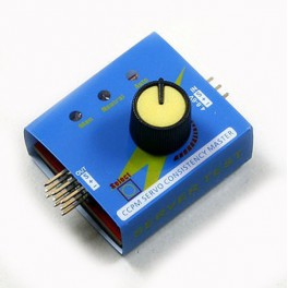 Multi Servo Tester Comprobador de 3CH CCPM ESC con 3 Modos 4.8-6V.
