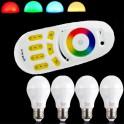 Kit 4 x bombillas de 6W E27 RGBW + mando a distancia Mi -Ligth