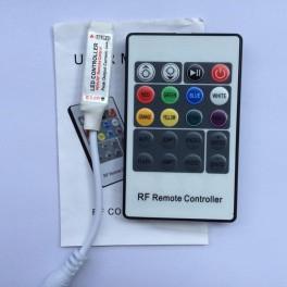 Mini Controlador RGB RF con mando a distancia 20 botones.