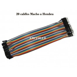 Cables tipo Dupont Macho-Hembra