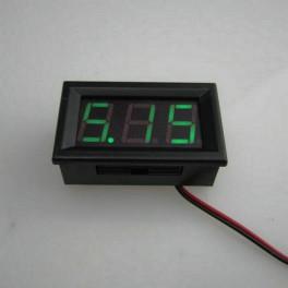 Voltímetro Digital LED VERDE Medidor Indicador Voltaje Batería DC 4,5V - 30V