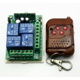 RF de 4 canales (+), Emisor y receptor 12V 315Mhz inalámbrico