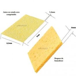 Esponja Resistente Al Calor Para Limpieza de la punta de Soldador 50 x 35 x 6mm