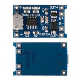 1x TP4056 TE420 Modulo carga batería lito 1000mA cargador mini USB 4,2V 18650, ARDUINO