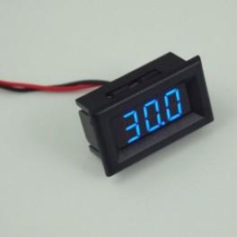 Voltímetro Digital LED Azul Medidor Indicador Voltaje Batería DC 3,2V - 30V