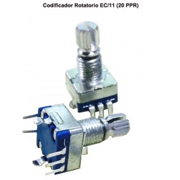 CODIFICADOR ROTATORIO CON SWITCH EJE PULSADOR EC/11 - ROTARY ENCODER