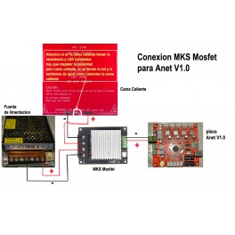 MKS Mosfet 30A proteccion para la Placa base de impresora 3D