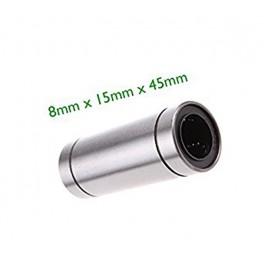 LM8LUU 8mm x 15mm x 45mm Cojinete Rodamiento lineal,CNC & 3D Impresora