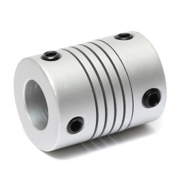 Acoplamiento Flexible De Aluminio para Motor de Pasos D19mmXL25mm Interior 5X8mm