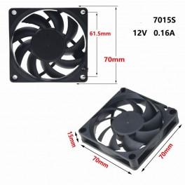 Ventilador 7 * 7cm 7015 de 12V